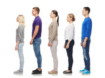 Group of people from side stock image