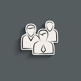 Group of people sign icon Stock Images