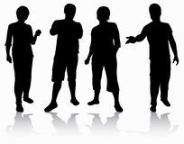 Group of people silhouettes Royalty Free Stock Photography