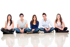 Group of people sitting Royalty Free Stock Photography