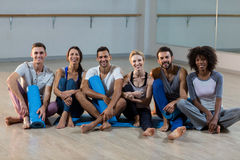 Group of people sitting on floor Royalty Free Stock Photo
