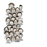 Group of people, sketch for your design Stock Photo
