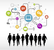 Group of People with Social Media Concept Stock Images