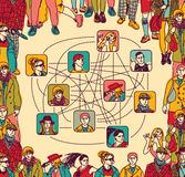 Group people social network connection color Royalty Free Stock Photography