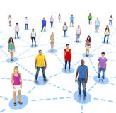 Group of People Social Network Series Stock Photography