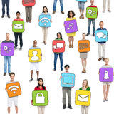 Group of People and Social Networking Concepts Royalty Free Stock Image