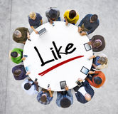 Group of People Social Networking and Like Concept Royalty Free Stock Image