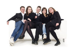 Group of people in a sofa Stock Photography