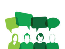 Group of people. With speech bubbles Stock Photo