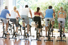 Group Of People In Spinning Class Royalty Free Stock Photography