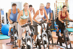 Group Of People In Spinning Class Royalty Free Stock Photo