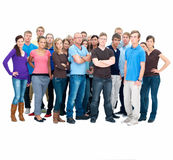 Group of people standing with copyspace Stock Photos
