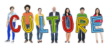 Group of People Standing Holding Culture Stock Images