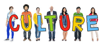 Group of People Standing Holding Culture Concepts Stock Photos