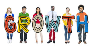 Group of People Standing Holding Growth Royalty Free Stock Photos
