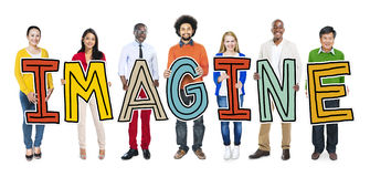 Group of People Standing Holding Imagine Royalty Free Stock Photography