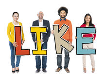 Group of People Standing Holding Like Concept Stock Images