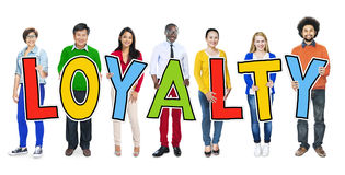 Group of People Standing Holding Loyalty Royalty Free Stock Photos