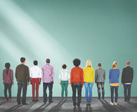 Group of People Standing Rear View Concept Royalty Free Stock Photography