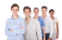 Group Of People Standing In A Row Stock Image