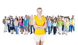 Group of People Standing Together Royalty Free Stock Images