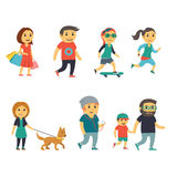 Group of People on the Street Royalty Free Stock Image