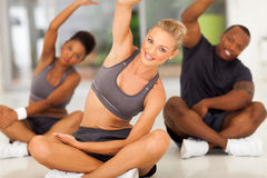 Group people stretching Stock Images