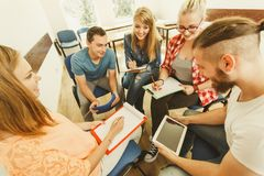 Group of people students working together Royalty Free Stock Photos