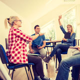 Group of people students working together Royalty Free Stock Images