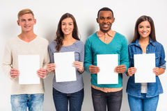 Group of people students Royalty Free Stock Images