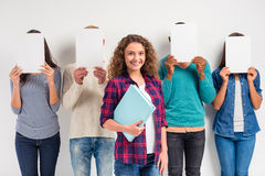 Group of people students Stock Photo