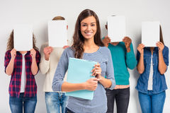 Group of people students Royalty Free Stock Photography