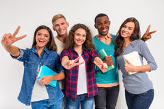 Group of people students Stock Photography