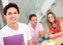 Group of people studying Stock Photo