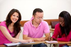 Group of people studying Stock Images