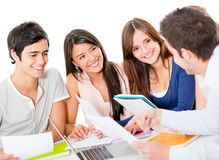 Group of people studying Royalty Free Stock Photos