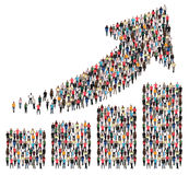 Group of people success business profit growth chart arrow sales stock photo