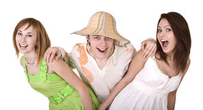 Group of people on summer holidays. Stock Photography