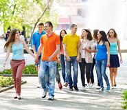 Group people in summer outdoor. Stock Image
