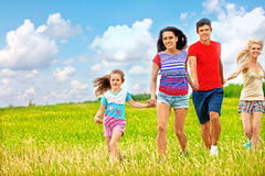 Group people summer outdoor Royalty Free Stock Photos