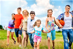 Group people summer outdoor Stock Photo