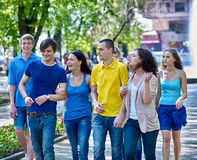 Group people in summer outdoor Stock Photography