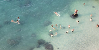 Group of People Swimming in Body of Water during Daytime Royalty Free Stock Images