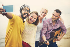 Group Of People Taking Pictures Concept Royalty Free Stock Image