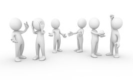 Group of people talking. Computer generated image of a group of people talking Royalty Free Stock Image
