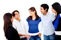 Group of people talking Royalty Free Stock Photos