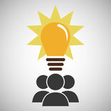group people team work bulb Royalty Free Stock Photos