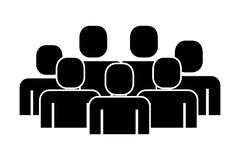 Group of people teamwork silhouette vector illustration