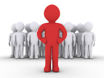 A group of people and their leader Royalty Free Stock Images
