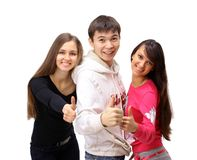 Group of people with thumbs Stock Photography